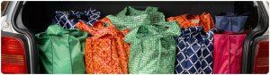 Túi hàng tạp hóa có thể tái sử dụng là một cách dễ dàng để giảm thiểu chất thải tại nhà