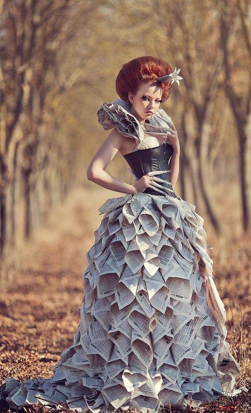 thời trang làm từ phế liệu